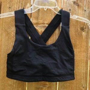 Lululemon Black Cross strap bra